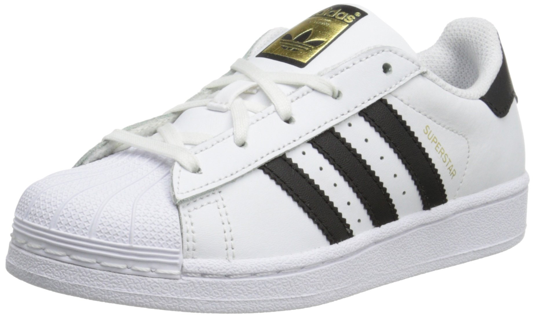 adidas Originals Superstar C Basketball Shoe (Little Kid),WhiteBlackWhite,1 M US Little Kid