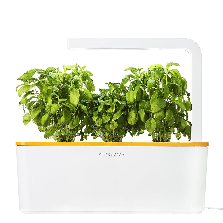 Click & Grow smartes Kräutergarten-Set mit 3 Basilikum Kassetten, orange beleuchtet SHGS5uni