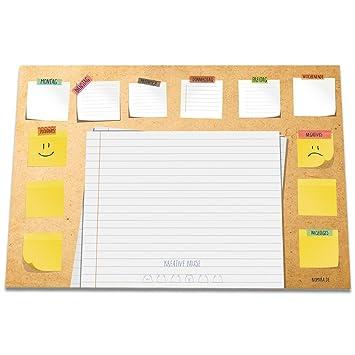 Schreibtischunterlage GUTE LAUNE aus Papier | DIN A3 groß (42 x 29,7 ...