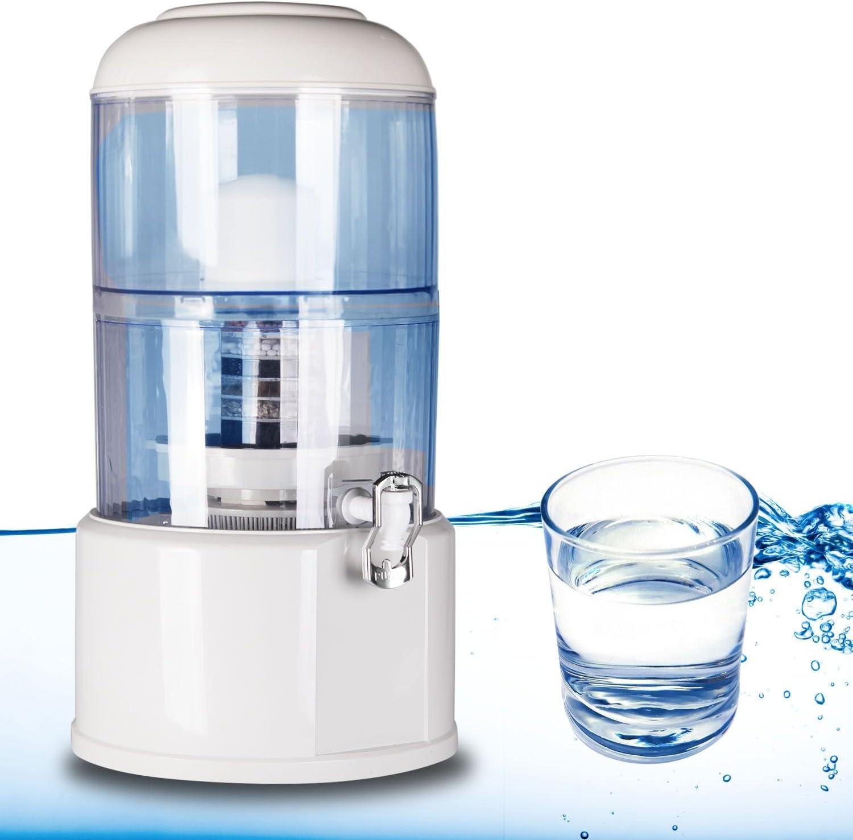 Depósito dispensador purificador de agua 20 litros CARBONO ACTIVO ...