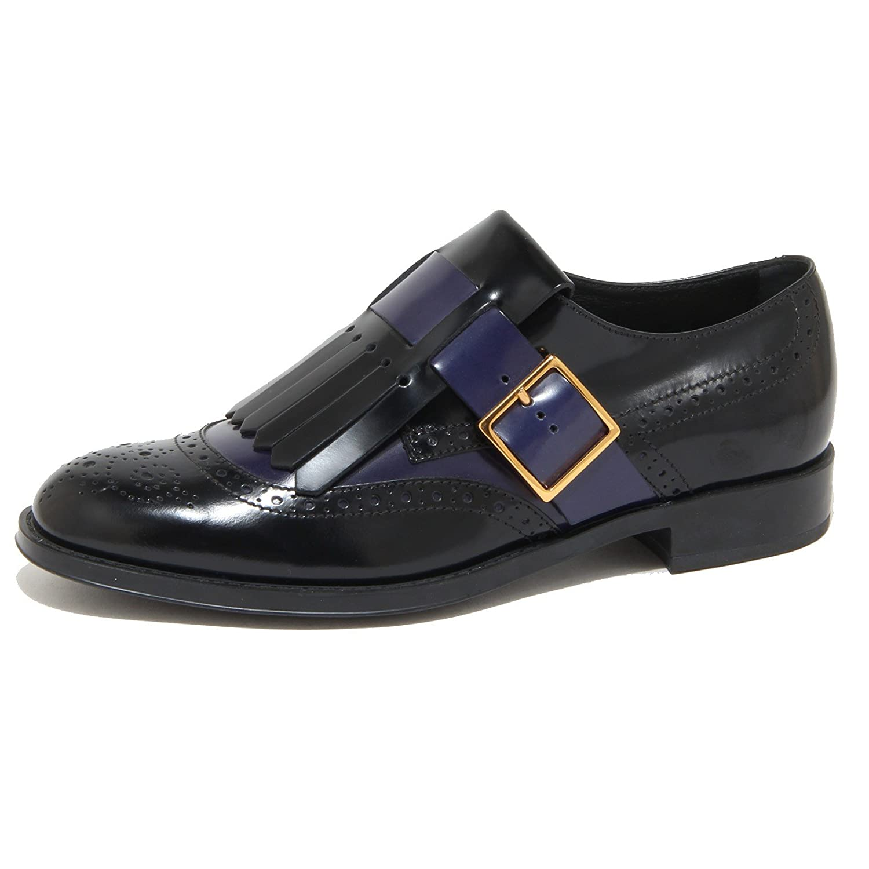 9185N scarpa allacciata TOD'S nero/blu scarpe donna shoes women 36 EU nero/blu