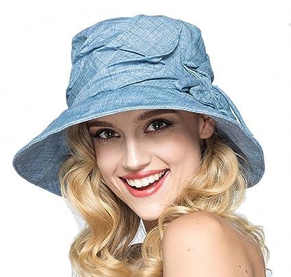 80cd4671 Women's Summer Sun Hat Straw Hat Big Bowknot Design Cotton Ladies hats/girl  fashion Beach Hat Women Sunscreen Solid color Floppy Hat, ...