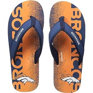 Gloral HIF Mens Adjustable Slippers Sports Shower Slide Flip Flop Sandals Dallas Cowboys