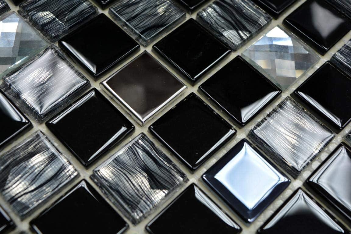 #K852 Carrelage de mosa/ïque en acier inoxydable brillant 4 mm
