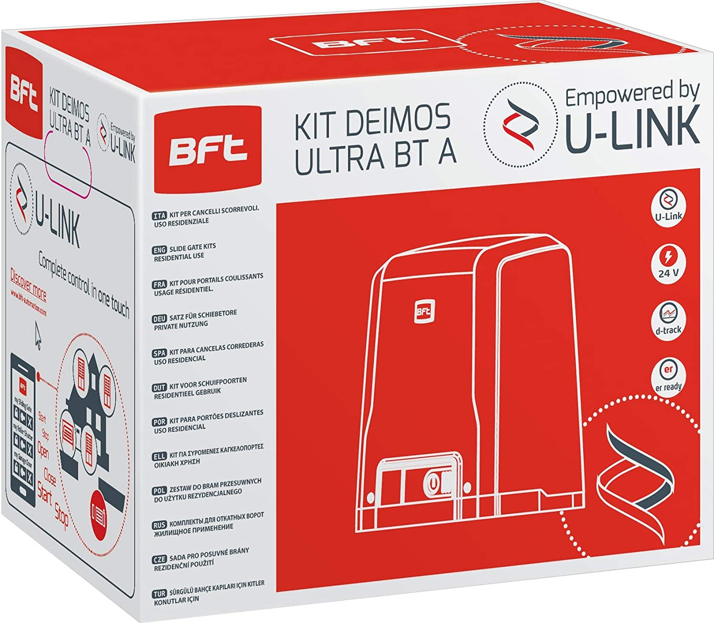 BFT - Kit de puerta corredera automática Deimos Motor A600 24 V 600 Killogram R92527000002 + cremallera Hiltron con pernos incluidos