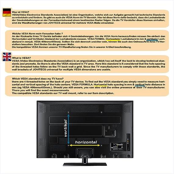 Monte original Jovitecs pared para TV de LCD UNIVERSAL, LED y Plasma extensible, giro e inclinación de 32