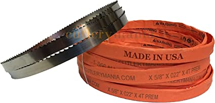 106 Long 5//8 Width; 3 Tooth; 0.022 Thickness; 1 Count//Pack Magnate M106T58T3 Meat Bandsaw Blade