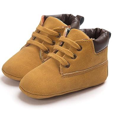 cfd8c5915cf75 Moonuy Chaussures en Cuir à Semelle Souple pour bébé Enfant Chaussures de  Tout-Petit garçon Fille Bébé Garçon Chaussures Toddler Infantile Prewalker  ...
