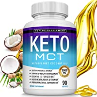 Keto MCT Oil Capsules Ketosis Diet - 2000mg Natural Pure Coconut Oil Extract Pills...