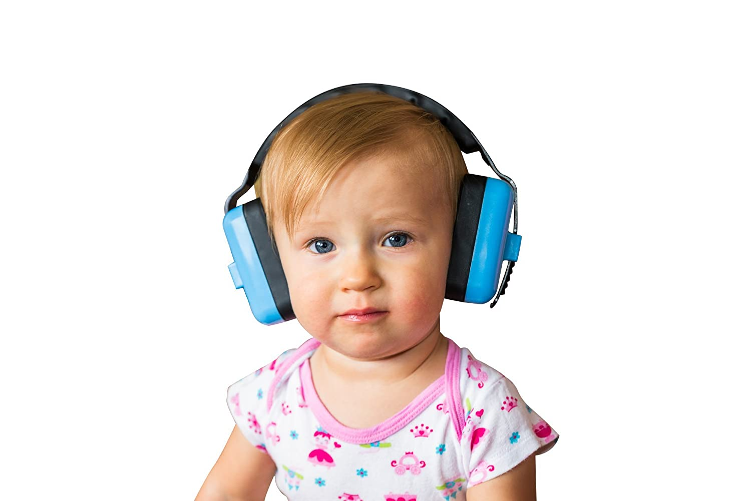 Little Llama Baby 6 months to 4 years old Hearing Protection Ear Muffs - Super Comfortable Noise Reduction and Ear Protection for your Infant Toddler and Child - Blue EarMuff1