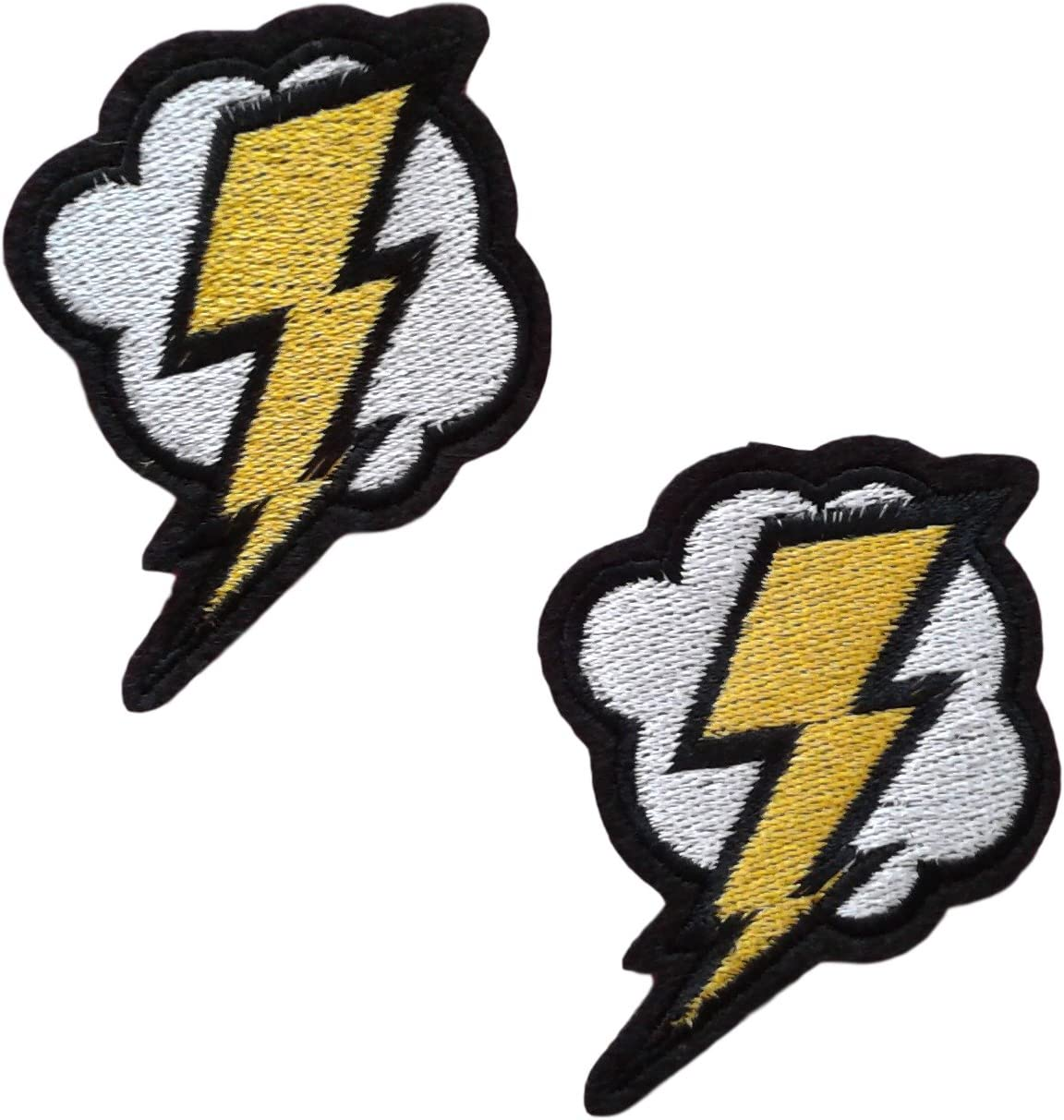 Lightning Bolt Iron-On Patch //Applique