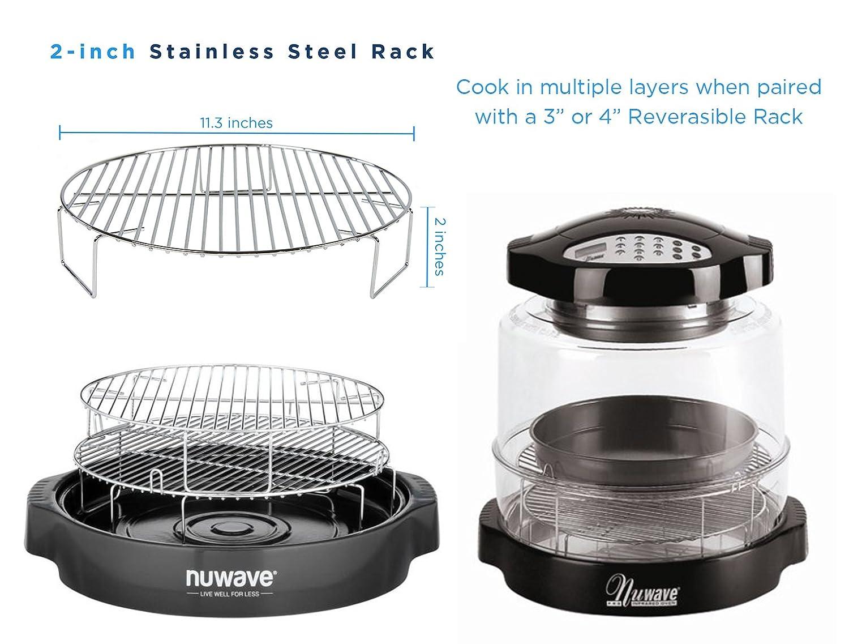 NuWave horno de parrilla de acero inoxidable de 2 pulgadas de repuesto para modelos Pro, Pro Plus y Elite - paquetes w/accesorios: Amazon.es: Hogar