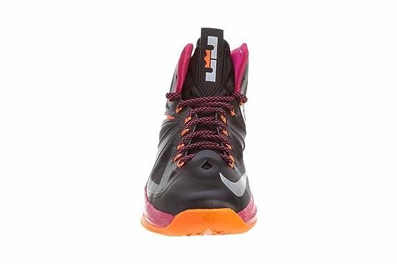best website 8a04c 3304b Amazon.com   NIKE Lebron X (Floridian Away) Black Cherry-Vivid Orange    Basketball