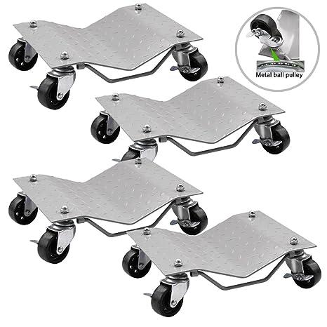 bbbuy neumáticos para 4 neumáticos rueda coche Dolly rodamientos de bolas Skate hace mover un coche