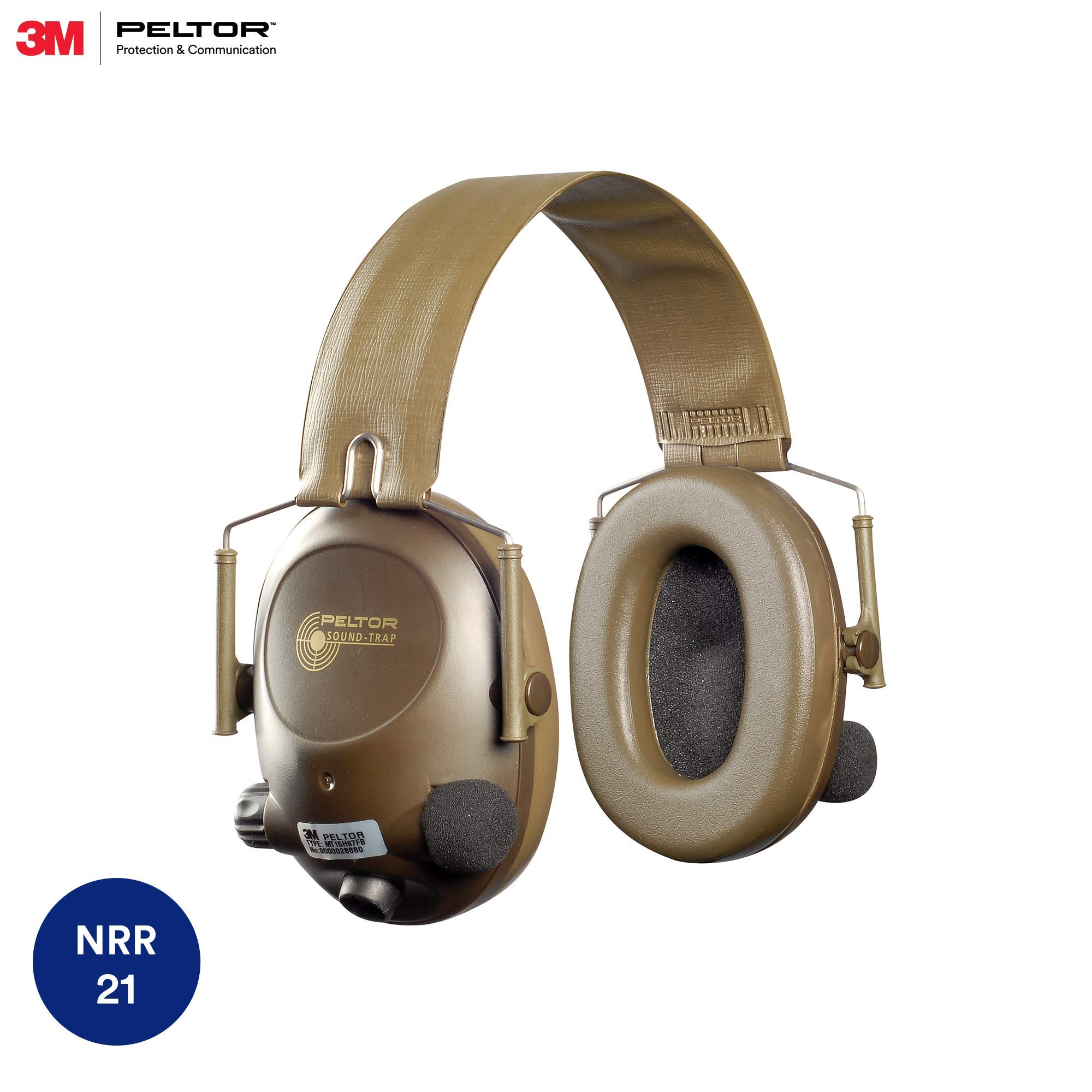 3M Peltor Tactical 6-S Slim Line Electronic Headset with Audio Input Jack, Olive Green, Hearing Protection, Ear Protection, NRR 20 dB, Great for hunters and shooters by 3M