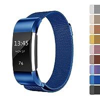 Fundro for Fitbit Charge 2 Armband, Milanese Edelstahl Handgelenk Ersatzband Ersatz Armbänder Uhrband Uhrenarmband mit Magnet-Verschluss und Metallschließe für Fitbit Charge2 Klein & Groß