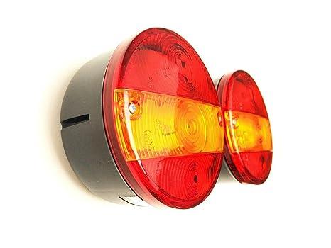 2x Hella Blinkleuchte Rückleuchte 1 x  Kennzeichenbeleuchtung Traktor Schlepper