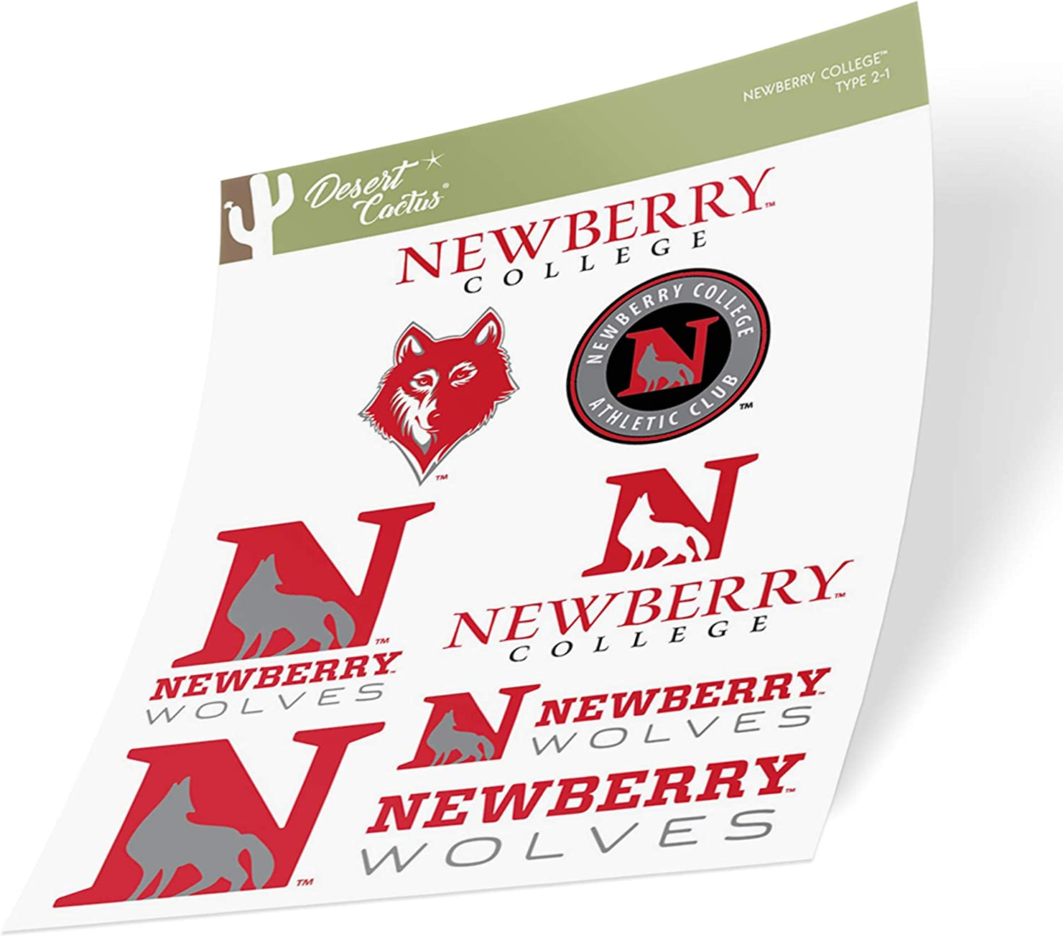 Newberry College Wolves NCAA Sticker Vinyl Decal Laptop Water Bottle Car Scrapbook (Type 2 Sheet)