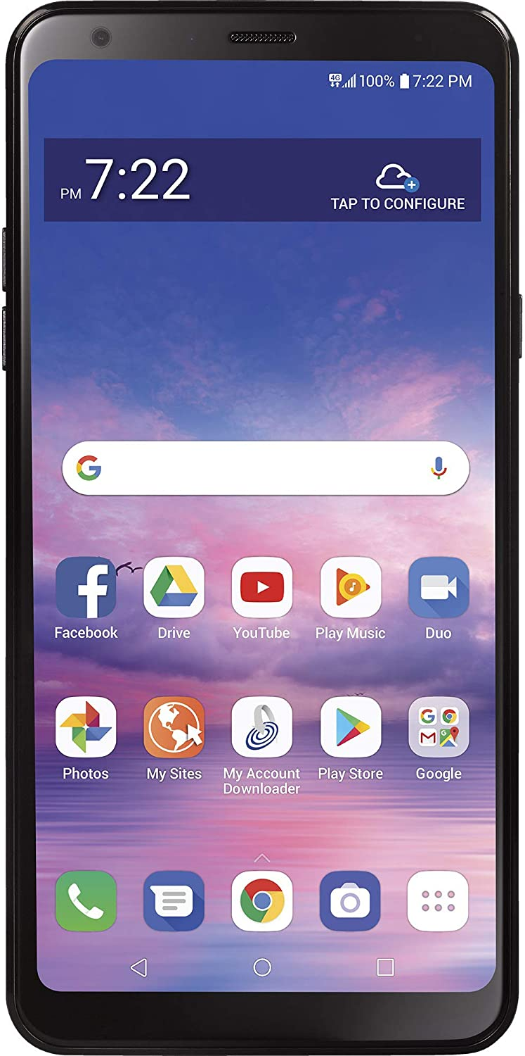 Simple Mobile Carrier-Locked LG Stylo 5 4G LTE Prepaid Smartphone - Black - 32GB - Sim Card Included - GSM (SMLGL722DGP5)