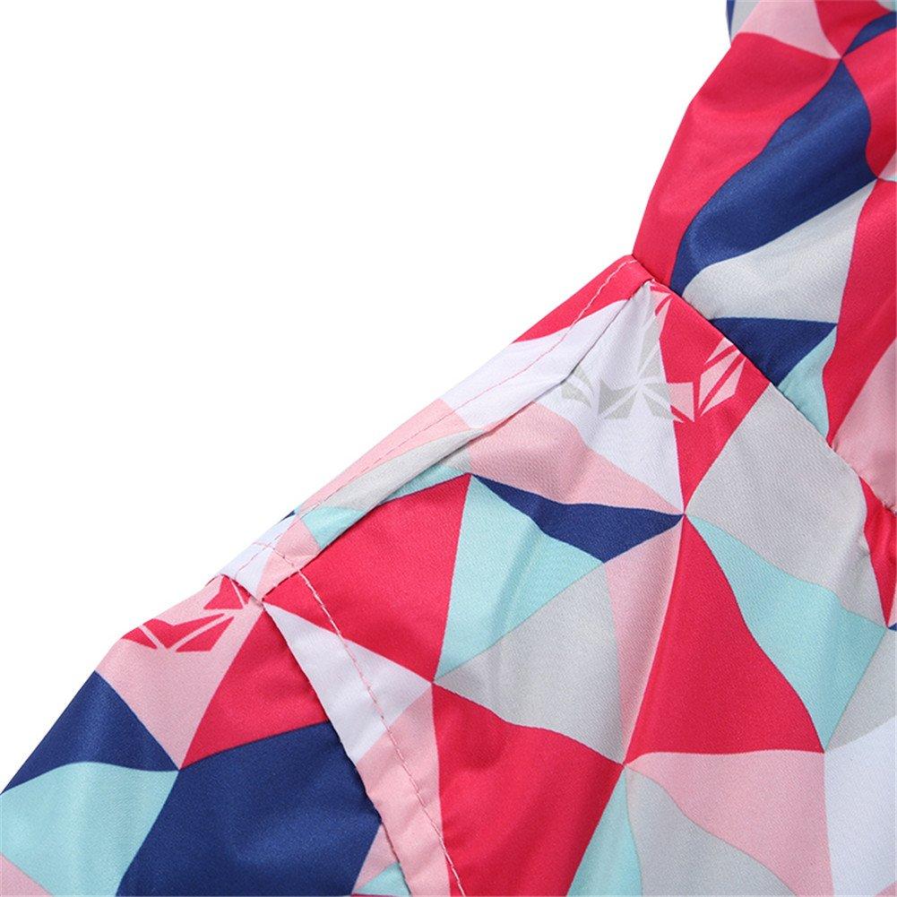Hiheart Girls Waterproof Fleece Lined Jacket Hood Windproof Rain Coat Pink 9/10 by Hiheart (Image #5)
