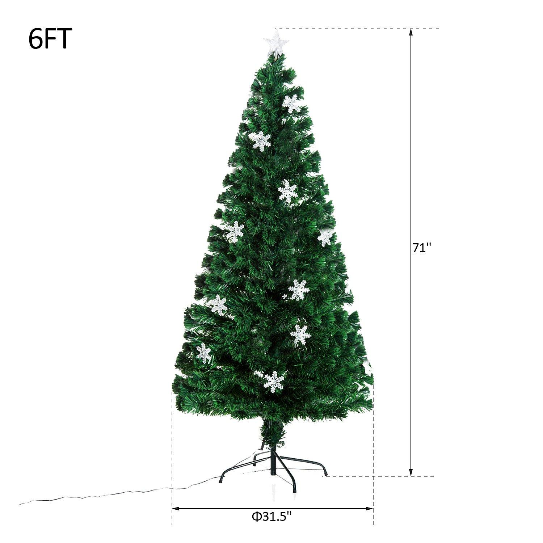 Amazoncom Homcom 6 Artificial Holiday Decoration Snowflake Light Christmas Tree