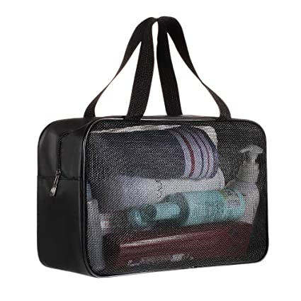 5ecc6f8c454a Coralov Shower Tote Bag Mesh Shower Caddy Oxford Hanging Toiletry and Bath  Organizer for Camping Dorm