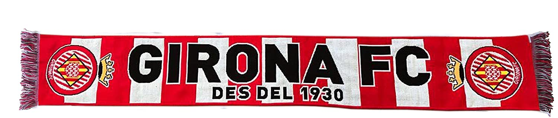 GIRONA FC Bufgir Bufanda Telar, Blanco/Rojo, Talla Única