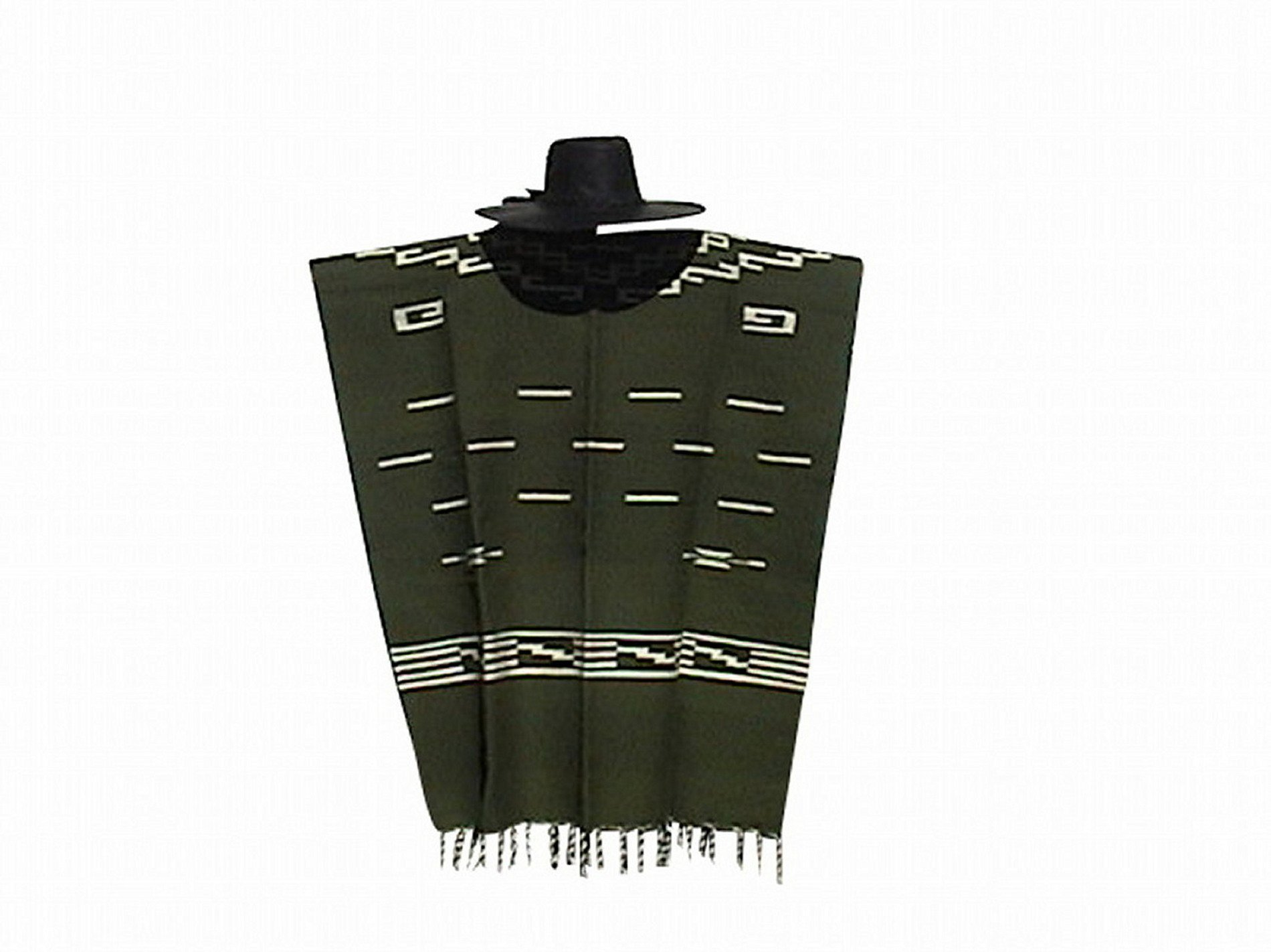 Clint Eastwood Spaghetti Western Original Pattern 100% Wool Poncho w Leather Hat by Sharpshooter (Image #6)