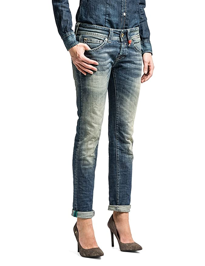 Fabienne - Pantalon - Tapered - Femme, Bleu, W25/L34 (Taille Fabricant: 25)Replay