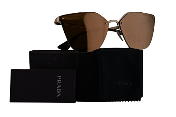 a7a08e7e36ec Prada Authentic Sunglasses PR68TS Pale Gold w Polarized Dark Brown Mirror  Gold Lens ZVN5N2 SPR68T PR 68TS SPR 68T (63mm)  Amazon.co.uk  Clothing