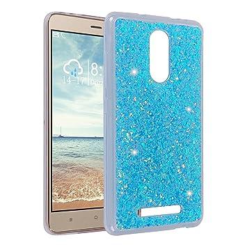 Funda para Xiaomi Redmi Note 3, Asnlove 3D Bling Brillante Glitter Carcasa Silicona Gel TPU Flexible Case Transparente Protectora Blanda Cubierta para ...