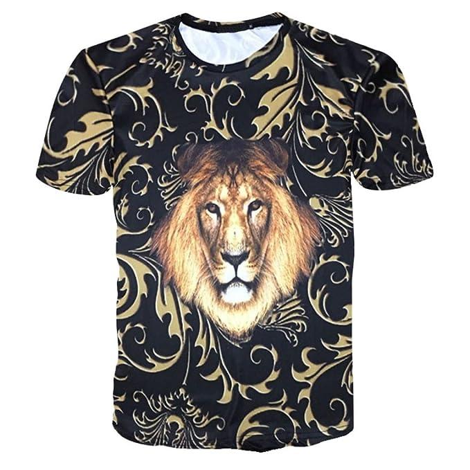 Camiseta para Hombre, ❤️Xinantime Camisa de Manga Corta de Verano de Estampado 3D de Hombres Divertidos Camisetas Casuales Top tee: Amazon.es: Ropa y ...