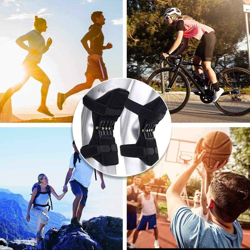 Mify Soporte de rodilla Rodilleras Rodilleras Acolchado de soporte para articulación de extensión de rodilla Rodillera para resorte 1 par Sport Booster para la palanca de resorte Booster: Amazon.es: Salud y cuidado
