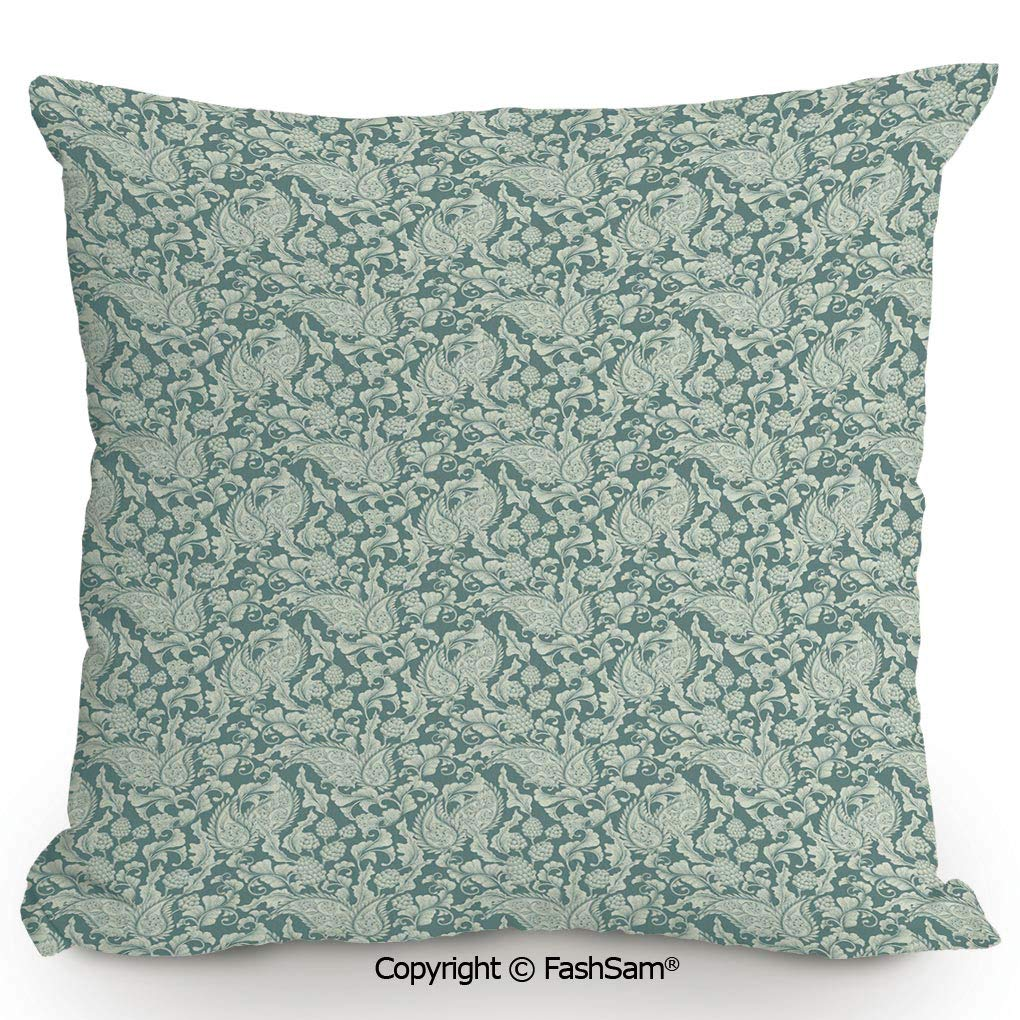 "Soft Linen Solid Multi-Color Throw Pillow Cover Sofa Cushion Case 18x18/"" Uti HK"