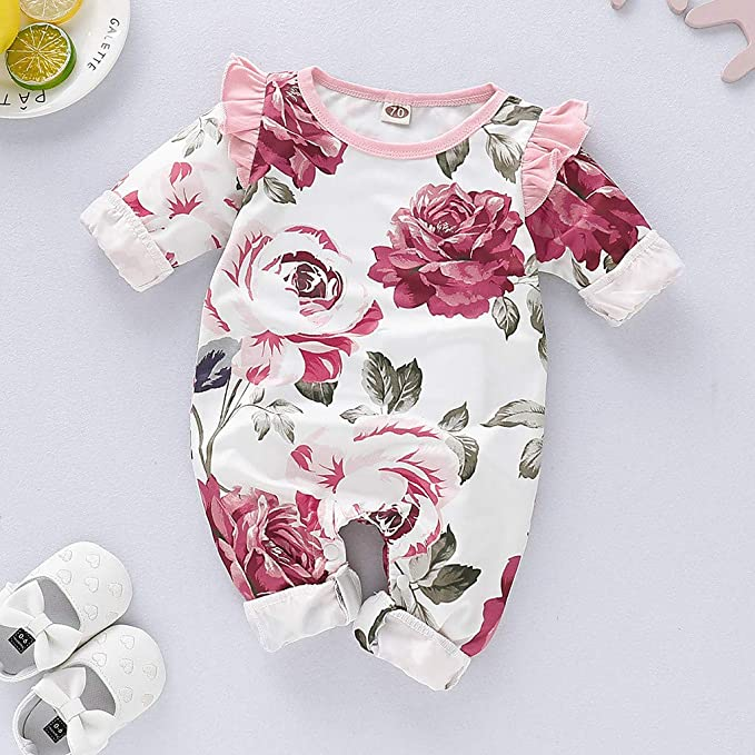 Hattfart Baby Jumpsuit Infant Bodysuit Toddler Long Sleeve Cotton Romper Kids Girls Boys Solid Casual Outfits Clothes