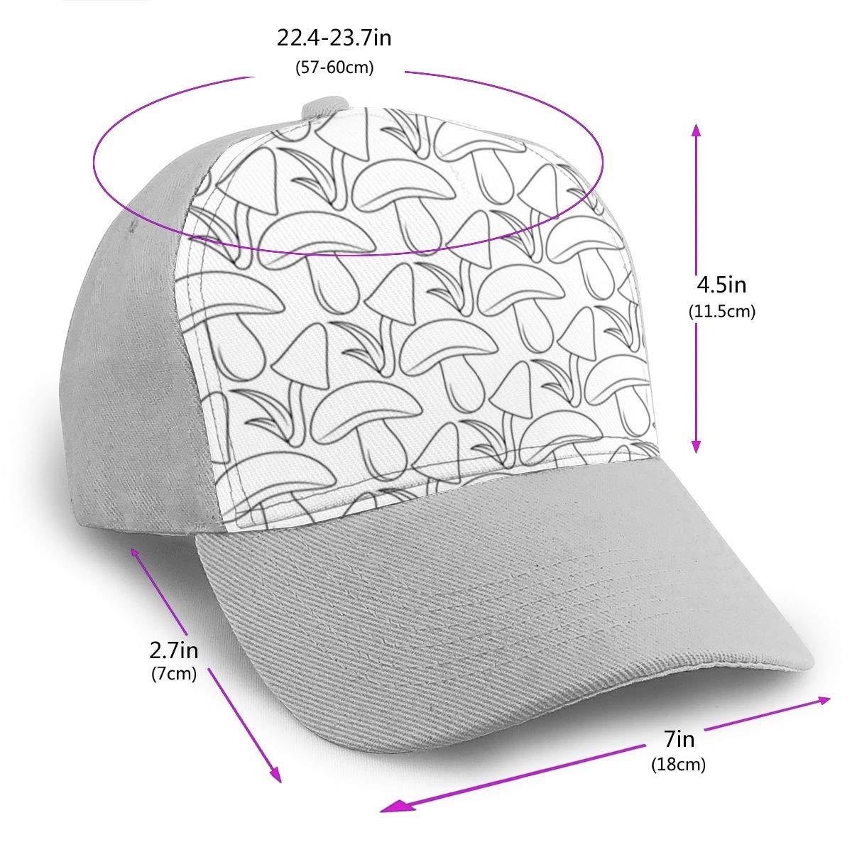 Classic Comfortable Simple Mushroom Pattern Adjustable Baseball Cap