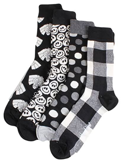 Happy Socks Black & White Gift Box, Calcetines para Hombre, Mehrfarbig (Anthrazit 9003