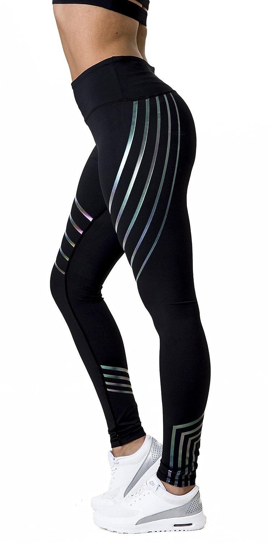 Morbuy Damen Leggings, Sport Gym Yoga Workout Pants Basic Fitness Hohe Taille Jogginghose Trainingshose Skinny Hosen Hose Sporthose (S, Schwarz)