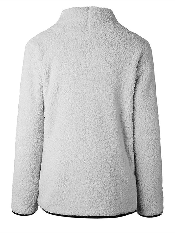 KISSMODA Womens Sweatshirt Soft Fleece Pullover Outwear Jacket Coat