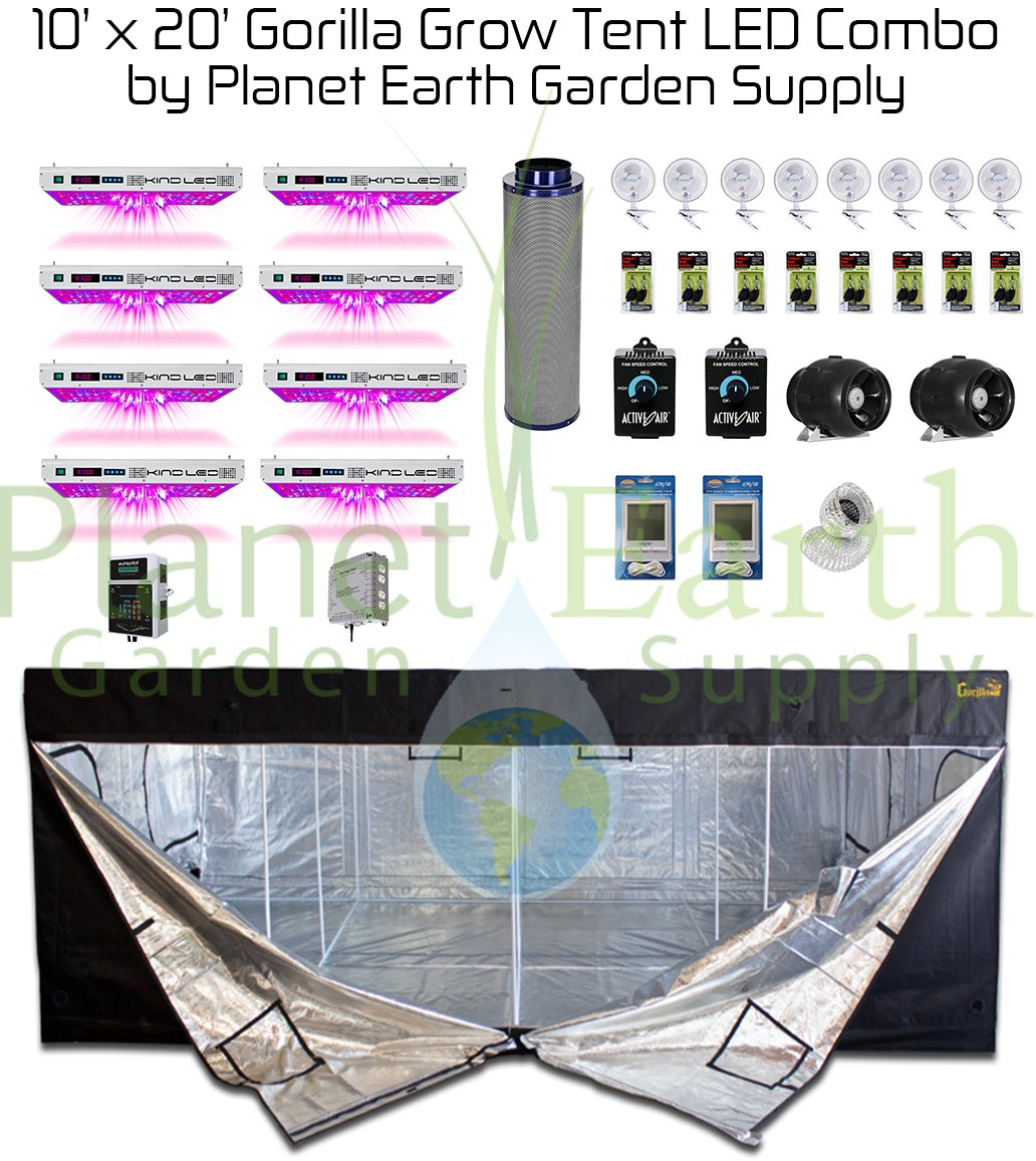 Amazon.com  All-In-One 10x20 Gorilla Grow Tent Kit 1000w KIND LED XL1000 Package #1  Garden u0026 Outdoor  sc 1 st  Amazon.com & Amazon.com : All-In-One 10x20 Gorilla Grow Tent Kit 1000w KIND LED ...