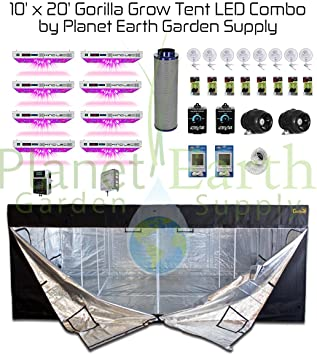 All-In-One 10x20 Gorilla Grow Tent Kit 1000w KIND LED XL1000 Package #  sc 1 st  Amazon.com & Amazon.com : All-In-One 10x20 Gorilla Grow Tent Kit 1000w KIND LED ...