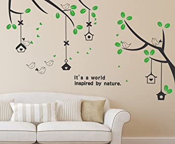 Delightful Solimo Wall Sticker For Living Room (Branches U0026 Bird Houses, Ideal Size On  Wall Part 24