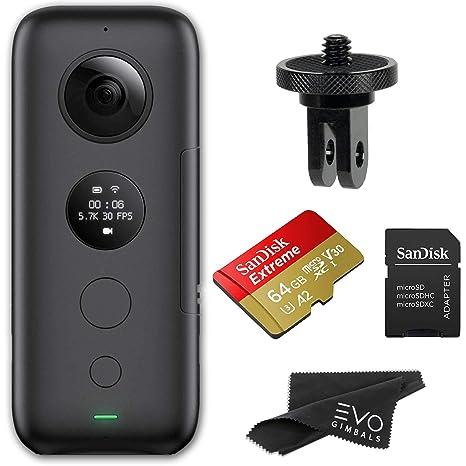 Insta360 One X 360 Cámara con Tarjeta de Memoria y Adaptador ...