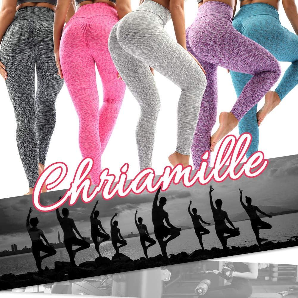 Chriamille Lift/Leggings/for/Women High Waisted Ruched Butt Leggings Booty Scrunch Leggings Workout Butt Yoga Pants