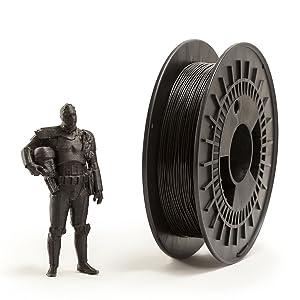 Eumakers FTECD-1C-CARBONFIBER Filamento in Nylon, 1.75 mm, Nero