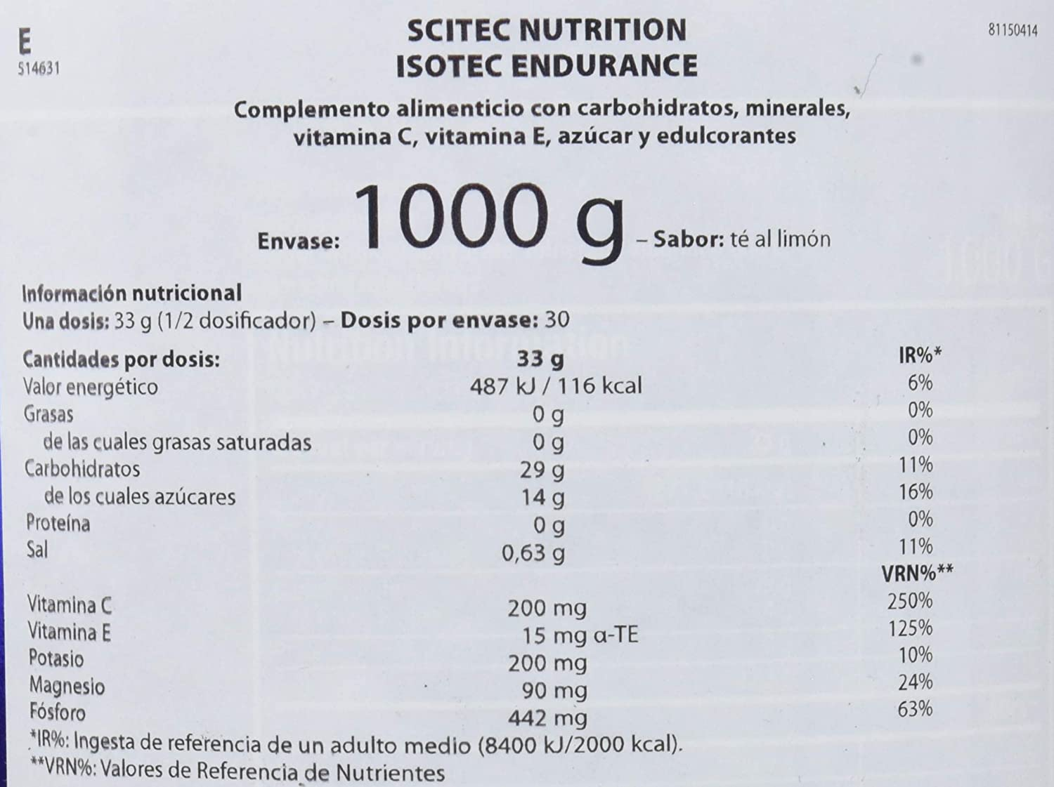 Amazon.com: Isotec - 2.20 lbs - Lemon - Scitec nutrition: Health & Personal Care