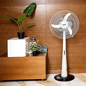 Geepas Rechargeable Oscillating Fan With Led Lights