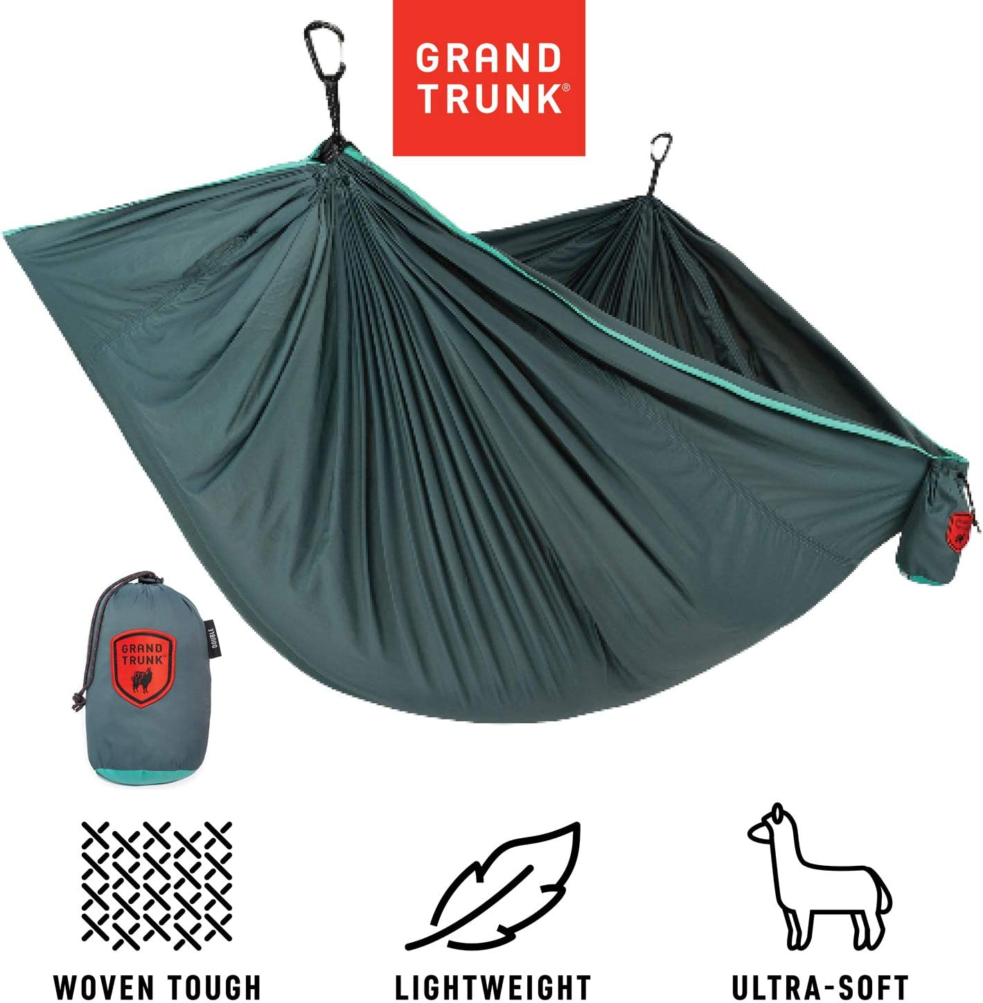 Grand Trunk Trunk Tech Double Hammock Strong, Light, and Portable – Perfect for Outdoor Adventures, Backpacking, and Festivals