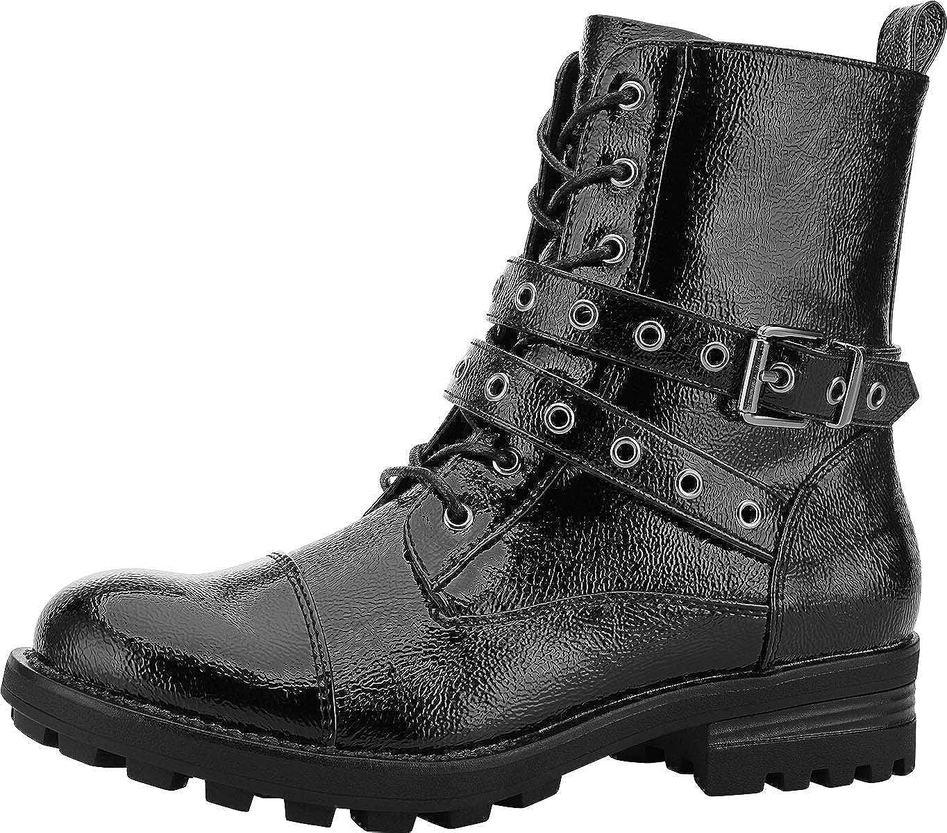 Yolanda Zula Women's Black Combat Boots