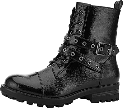 Fashion Womens Martin Boots High Top Zip Cowgirl Motorcycle Casual Walking Boots